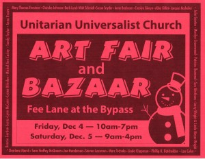 scan of red Bazaar poster